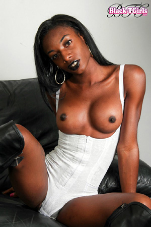 Very Well Hung Black Tranny Big Cock Bulge