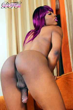 Well Hung Black TGirl Cock