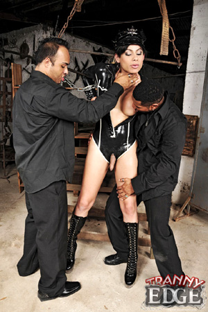 Hung Shemale in Bondage